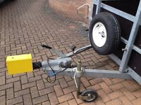 Custom built trailer; fully braked, 't' bar, drop tail and other....
