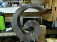 CURLY SWIRLY LARGE STAINLESS STEEL WATER FEATURE