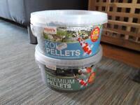 FREE pond koi fish food pellets