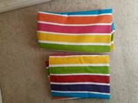 Funky striped colours blackout curtains 117x137cm