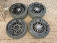 "BBS 17"" ALLOY WHEELS SUPERB TYRES 5X120 BMW 3 SERIES M SPORT VIVARO T5 TRAFIC STAGGERED"