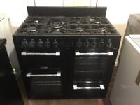 Leisure all gas range cooker CK100G232K 100cm Black GRADED 3 months warranty free local delivery