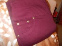 ladies burgandy jeggings from avon new