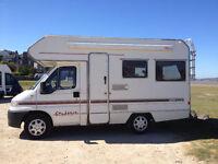fiat sundance 500lux 1.9 td turbo diesel motorhome campervan PAS 4 berth 12 mot 1999 swb REAR BELTS
