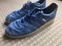 Adidas Munchen suede blue trainers, size 12
