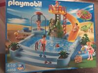 Playmobile swimming pool with accessories boxed