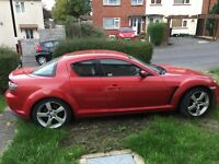 My car red rx8
