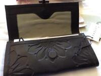 Radley - black leather clutch bag / purse