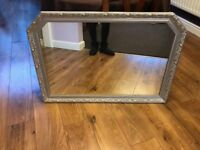 Large Silver Framed lounge Mirror