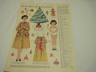 Vintage Betsy McCall Paper Doll 1958  53 years old Betsy trims
