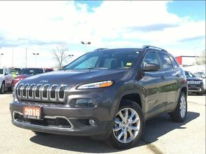 2016 Jeep Cherokee LIMITED**LEATHER**8.4 TOUCHSCREEN**SUNROOF**