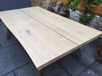 Solid Oak - Split Top Coffee Table - Brand New