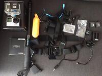 GoPro HERO4 Black + OVER £100 WORTH ADDONS + WARRANTY