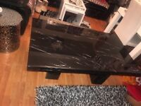 Large black marble coffee table great condition