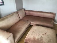 Corner suite and footstool for sale