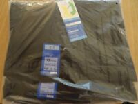 2 Pairs of Marks & Spencer Boys black pleat front, classic school trousers with Stormwear +