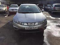 HONDA CIVIC 1.4 I-BSI. SE MANUAL PETROL 5DR 2008 PLUSATCHBACK