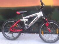 "SHOGUN XC50 Full Suspension Aluminium Kids Boys Girls 20"" Mountain Bike"