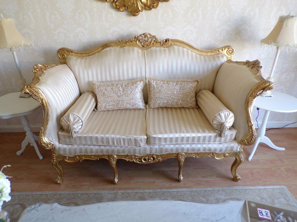 Louis Xiv French Style Sofa And 2 Chairs In Thornliebank