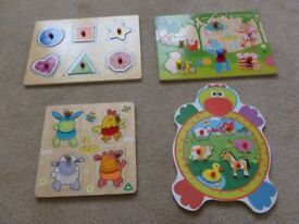Wooden Jigsaw puzzles x 4