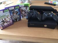 Xbox 360 plus Kinect and 3 Games