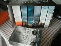 GAME OF THRONES BOOK BOX SET 1 - 7, only 1 book read