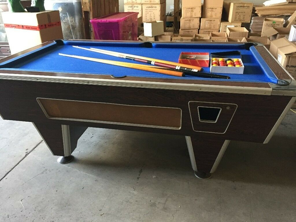 X Ft Pool Table Good Condition No Tears Adjustable Feet In - Adjustable pool table
