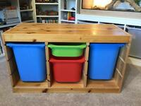 Ikea Trofast Pine Storage unit with boxes