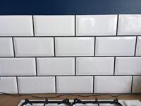 White gloss Metro/Underground tiles
