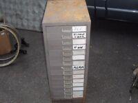 old locker 14 drawer engineers filing cabinet