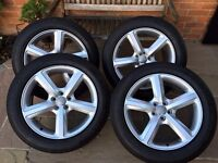 """Genuine Audi 19"""" Q5 S-Line 5 Bar Alloy Wheels & Four Matching GoodYear Excellence Tyres"""