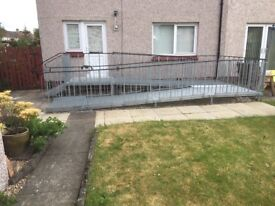 GOOD AS NEW METAL WHEELCHAIR RAMP - LESS THAN ONE YEAR OLD - TRULY PERFECT CONDITION