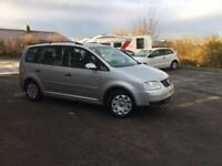 55 PLATE VOLKSWAGEN TOURAN (7 seater) 1.9 TDI - 6 SPEED GEARBOX - LOW MIL. - ONLY ONE OWNER FROM NEW
