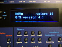 Novation Nova MIDI synthesizer desktop module OS 4.1 (SuperNova synth).