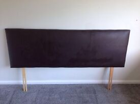 King size divan bed with faux leather headboard