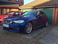 BMW 330i M Sport Auto Le Mans Blue, Black Leather.