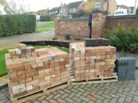 Reclaimed Bricks plus blue bricks & Rosemarie tiles for sale