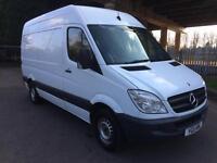 2011 Mercedes Sprinter 313 CDi Medium Wheel Base Hi Roof Panel Van Full SH Long MOT NO VAT