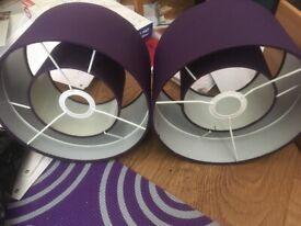 Two purple light shades