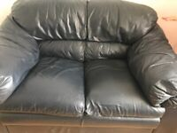 Leather sofa set, 3 seater and 2 seater