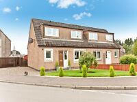 2 bedroom semi-detached house to let, Milnathort. Off street parking, decked back garden.