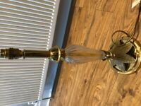 Crystal and Gold Lamp