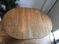 Wooden Kitchen Table-seats 6 extended