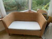 Conservatory Wicker furniture sofa and chair