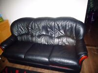Leather SOFA and leather 2x armchairs