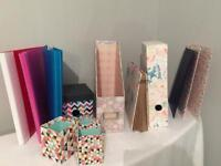 Stationary file storage box A4 folders luxury