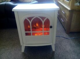 REDUCED AS NEED THE SPACE WHITE ELECTRIC FIRE