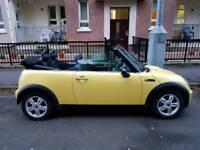 Yellow Mini One Convertible