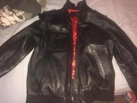 AviaTrix Exclusive Leather Jacket   Black
