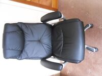 black leather office chair, £20
